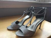 Debenhams silver heels