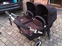 Bugaboo Donkey twin - 2 x Maxi Cosy Pebble car seats Very good condition
