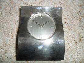 Jasper Conran silver plated clock