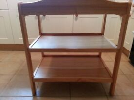 BabiesRus wooden baby changing table