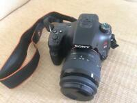 SONY ALPHA A65 DIGITAL CAMERA with 2 LENSES, BOXED, Hardly Used
