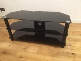 TV Stand ...John Lewis Black Glass
