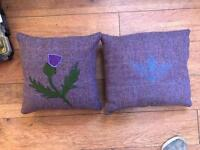 Harris Tweed cushions available separately