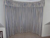 QUALITY HANDMADE CURTAIN, MATCHING PILLOWCASES & BED VALANCE