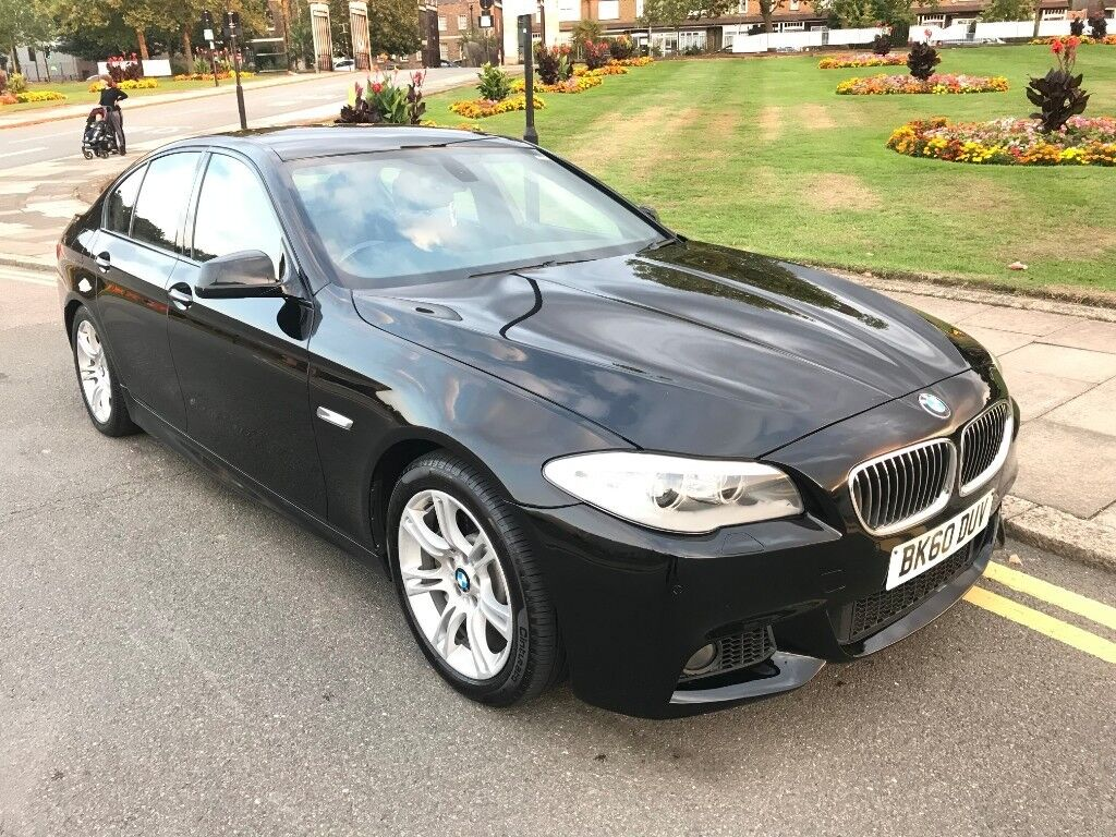 10 REG BMW 525D AUTO M SPORT F10 3.0DIESEL BLACK BMW HISTORY LEATHER NOT  520D