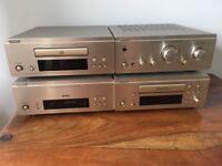 Denon hi fi radio cd tape and amp very good condition plus speakers
