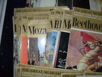 x78 The Great Musicians weekly magazine / Classical music. Mozart etc
