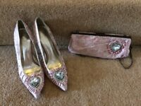 Moda in Pelle shoes size 5 and matching bag
