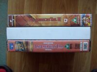 An American Tail 1, 2 and 3 all 3 films on VHS Video