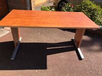 Cherrywood effect desk and drawers