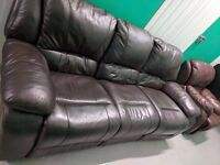 Leather Sofa, 2 Arm Chairs , Dining Table 4 Chairs, Wooden Bed&Mattress and Ikea Sofa Bed