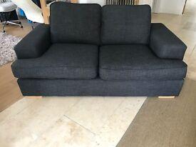 John Lewis steel grey sofa