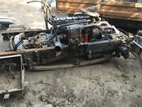DAF CUMMINS ENGINE 6BT CUMMINS 150HP TURBO ENGINE GEARBOX AND PARTS STILL IN THE CHASSIS