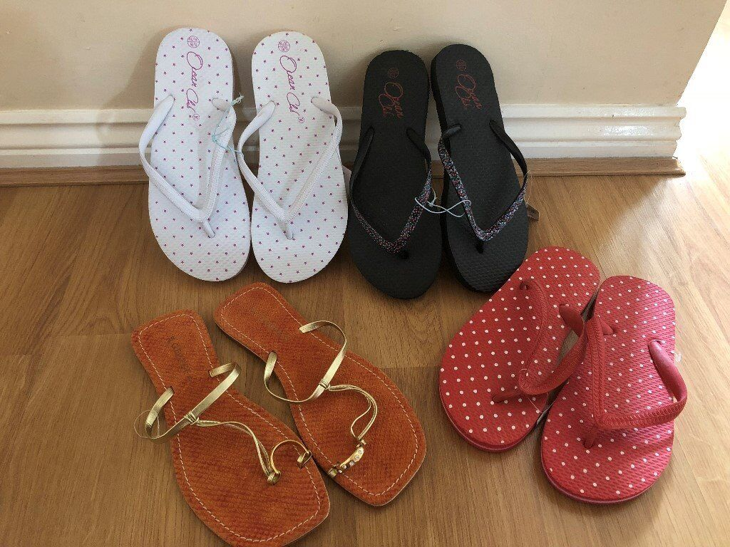 de21e1fb09f1ed Brand New Women s x3 Flip Flops   Genuine Leather Italian Sandals (Never  Worn) Size 6