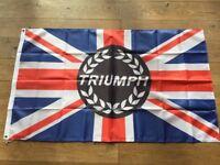 Triumph Tr1 Tr2 Tr3 Tr4 Tr5 Tr6 Tr7 Trv8 spitfire herald workshop flag banner