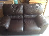 Brown Leather 2x2 Seater