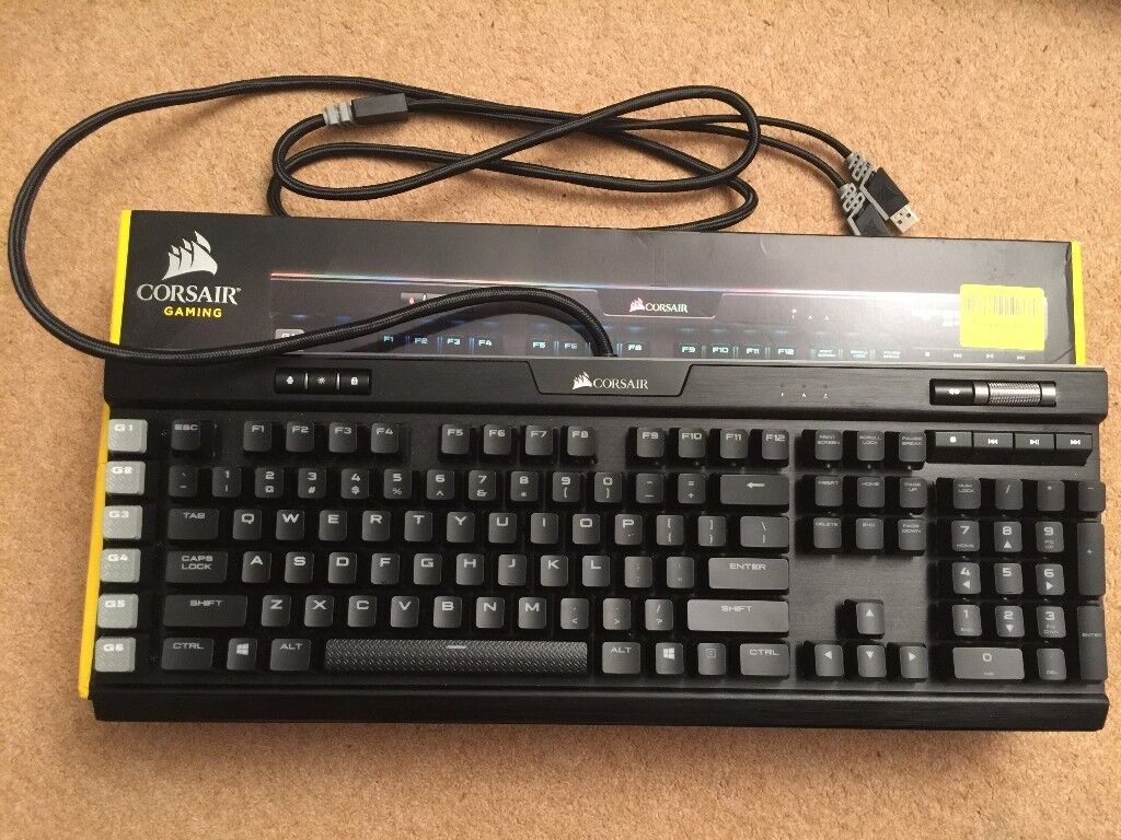 Corsair K95 RGB Platinum, new with box and accessories - US layout