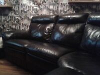 Lazyboy large black reclining sofa