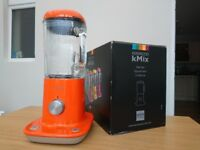 Hardly Used ORANGE Kenwood kMix BLX50 Blender 800W - 1.6 litre Mint Condition Boxed with all Docs