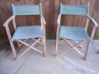 2 x Folding fabric directors Chairs Delivery Available £12