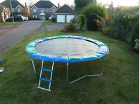 Jumpking 12ft Trampoline with ladder and weather cover