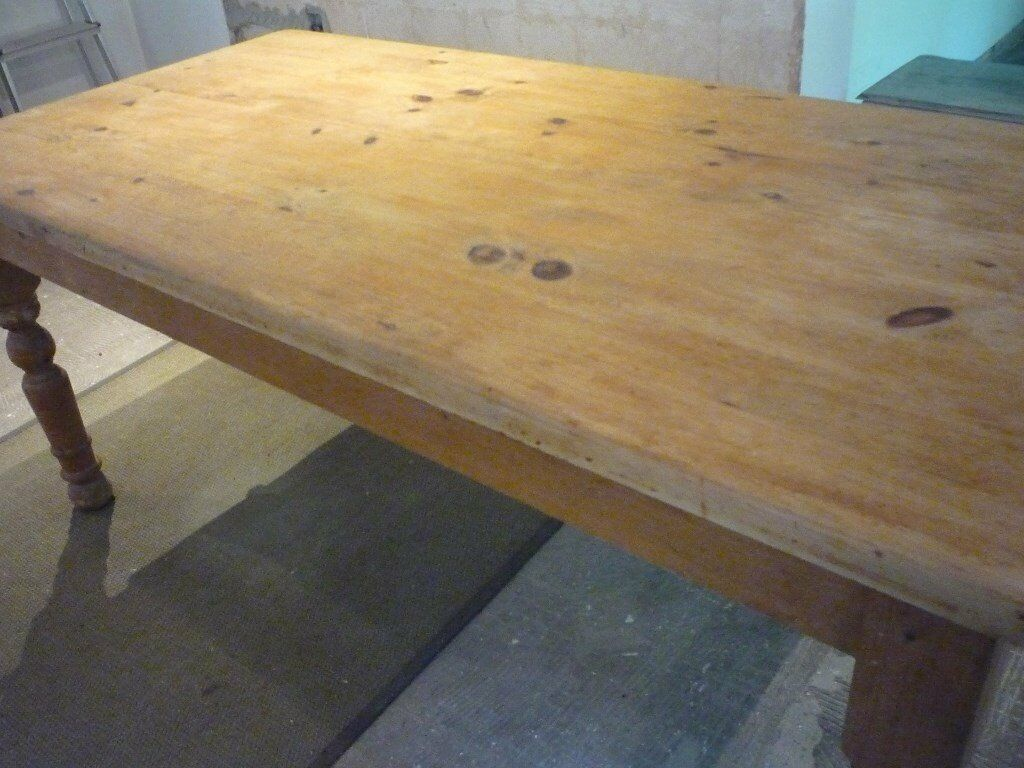 LARGE FARMHOUSE PINE TABLE RUSTIC LOOK 71 inch long by 35 inch wide