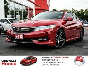 2016 Honda Accord Coupe V6 Touring 6AT 1-Owner|Clean Carproof|Su