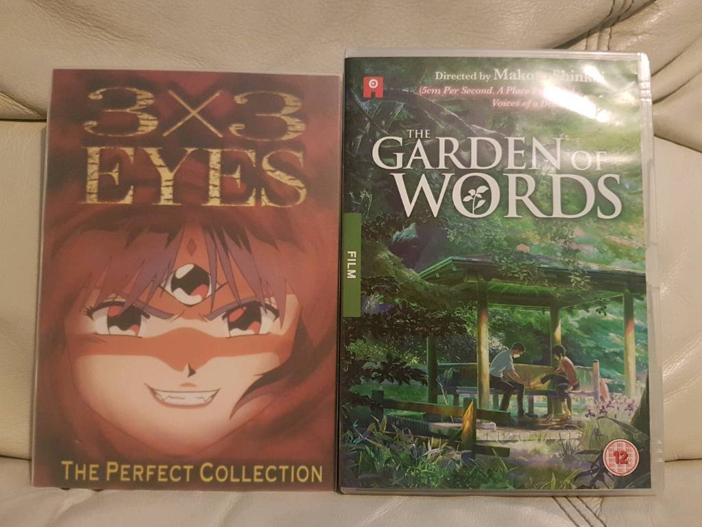 2 x Anime dvd\'s 3x3 the perfect collection & The Garden of Words ...