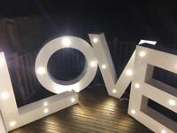 Marquee wedding lights, LOVE for rent