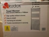Kudox Flat Chrome Towel Warmer 600mm x 1100mm