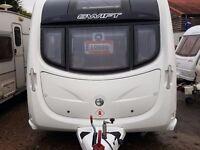 SUPERB 2011 Swift Conqueror Silver Side 480 2 Berth End Washroom Caravan with MOTOR MOVER