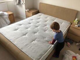 King silentnight mattress and upholstered bed frame