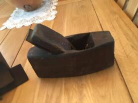 Antique wooden plane and grooving tools