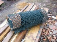roll of 3ft chainlink fencing green plastic covered unused £25 o.n.o.