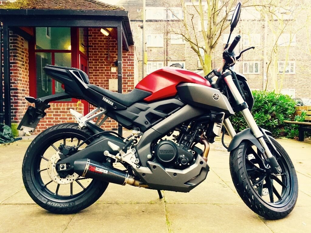 yamaha mt 125 matte red finish with scorpion exhaust in wandsworth london gumtree. Black Bedroom Furniture Sets. Home Design Ideas