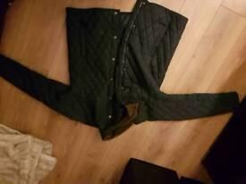 Men's navy padded coat