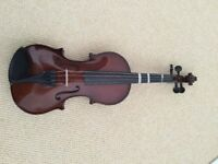 Stringers of Edinburgh violin with case and neck rest - in very good condition