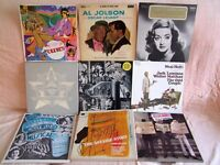 Vinyl records, various 1930s to 1960s