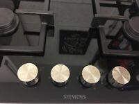 Siemens 4 Burner Gas Hob Black Ceramic