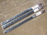 3x B&Q PVC brush door draft excluder strip seals excluders