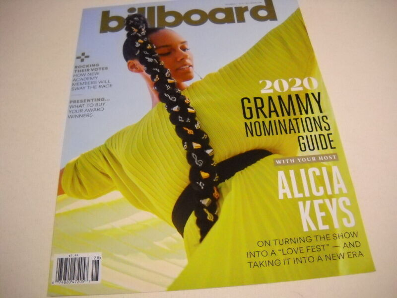 ALICIA KEYS is the 2020 Grammy Host 2019 BB cover as PROMO POSTER AD mint