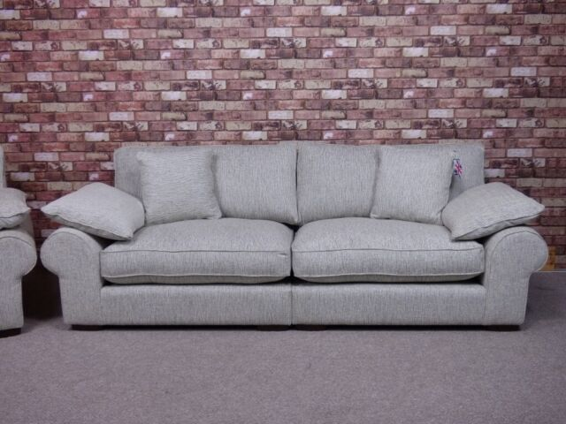 Magnificent Aria Extra Large 4 Seater Sofa Plus Maxi Snuggler Chair In Grey Fabric Settees In Chigwell Essex Gumtree Andrewgaddart Wooden Chair Designs For Living Room Andrewgaddartcom