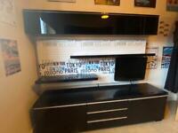 IKEA black gloss cabinets