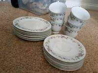 Tea cups saucers and plates