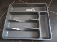 Plastic Cutlery Holder Organiser Drawer Tray-NEW