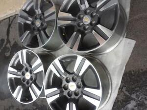 BRAND NEW TAKE OFF 18 INCH CHEVY COLORADO ALLOY WHEEL SET OF FOUR