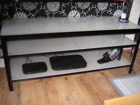 Ikea TV long glass unit