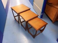 Vintage teak nest of tables - Danish, G-Plan, mid-century