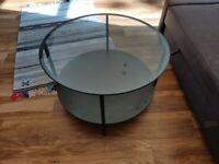 IKEA Coffee table, black-brown/glass