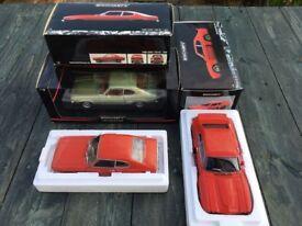 1:18 scale Minichamps Ford Capris (3) model cars for sale.